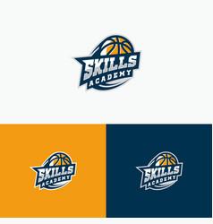 Sport basket ball template vector