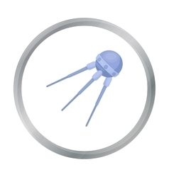 Sputnik One icon in cartoon style isolated on vector image