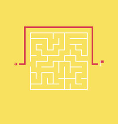 Square maze and the shortcut to the exit vector