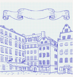 stortorget square in old city stockholm hand vector image