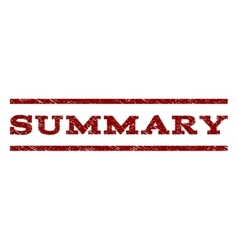 Summary Watermark Stamp vector