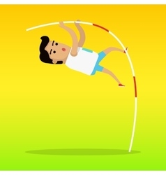 Summer Games Colorful Banner Pole Vault Sport vector