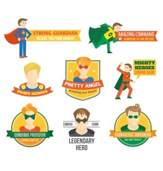 Superhero label vector image