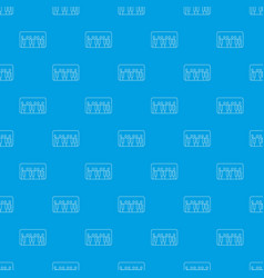 synthesizer piano pattern seamless blue vector image