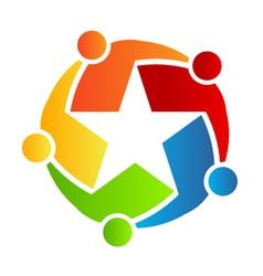 Team Star logo vector image vector image