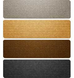 Texture of corrugated paperboard vector