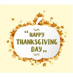 Thanksgiving pumpkin shape banner vector