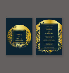 Trendy wedding invitation vector