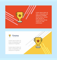 trophy abstract corporate business banner vector image