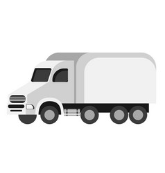 truck flat on white vector image