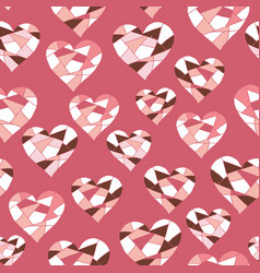 valentine pink and red love hearts vector image