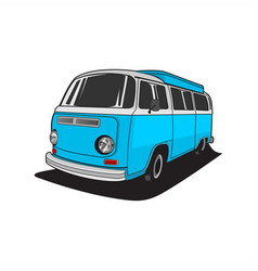 van car logo vector image