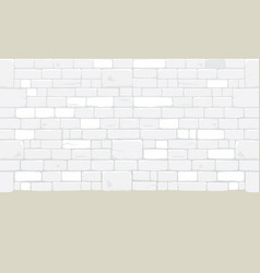 White brick blocks wall vector