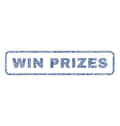 Win prizes textile stamp vector