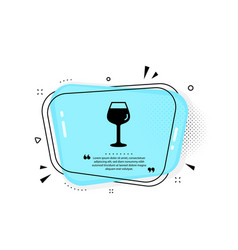 wine glass icon bordeaux glass sign vector image