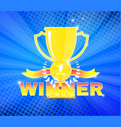 winners cup for first place vector image