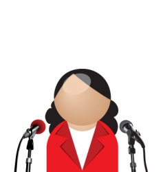 woman interview vector image