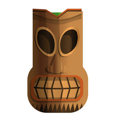 wood indian idol icon cartoon style vector image