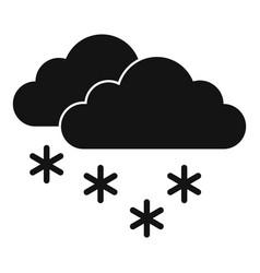 Zero temperature blizzard icon simple style vector