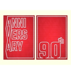 Anniversary outline set vector image vector image