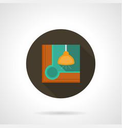 billiards flat round icon vector image