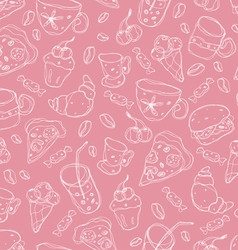 Cafe pattern vector image