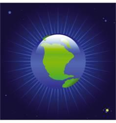 glowing planet vector image vector image