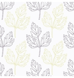 Hand drawn lovage branch wirh flowers stylized vector image vector image