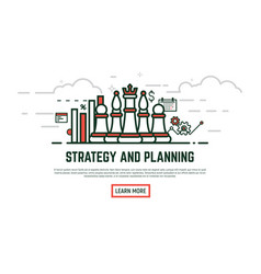 linear strategy vector image