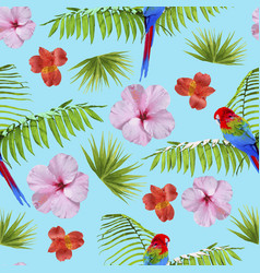 paradise summer pattern with tropical decoration vector image vector image
