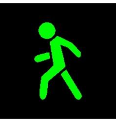 Pixel symbol pedestrian vector image vector image