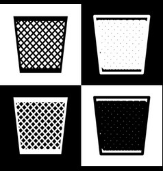 trash sign black and white vector image