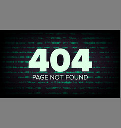404 error page not found computer web vector image vector image