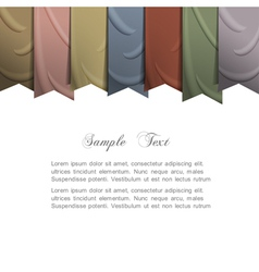 background with silk ribbons vector image vector image