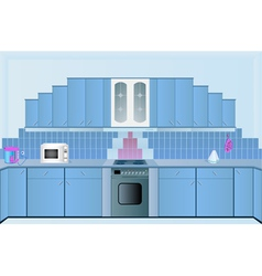 interior of the kitchens vector image