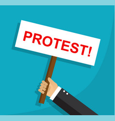 protest and disagreement of an employee vector image vector image