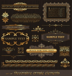 vector set golden page decor vector image vector image