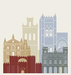 Avila skyline poster vector image