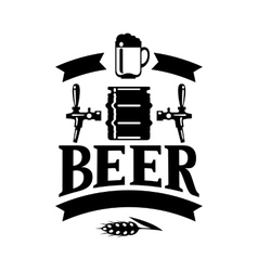 Beer label design with icons and objects vector image vector image