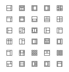 Layout Line Icons 4 vector image vector image