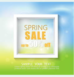 spring abstract background with white framespring vector image