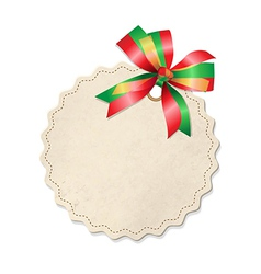 Vintage Label With Ribbon vector image