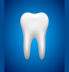 white tooth on blue background stomatology icon vector image