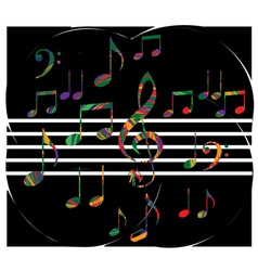 Abstract music note vector image
