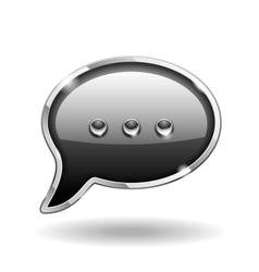 Bubble Talk Icon vector image