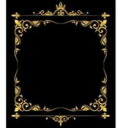 Golden ornate royal fleur de lys frame vector image vector image