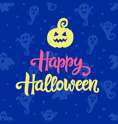 happy halloween typography poster vector image vector image