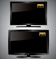 LED LCD TV vector image