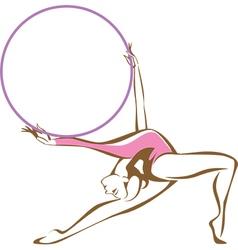 Rhythmic gymnast with a hoop vector image vector image