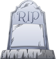 RIP Grave vector image vector image